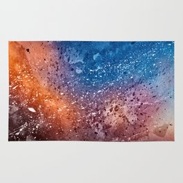 Vibrant Acrylic Texture Rug