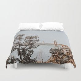 san francisco, california / golden gate bridge Duvet Cover