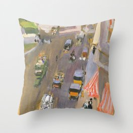 Fifth Avenue, New York by Joaquin Sorolla Throw Pillow