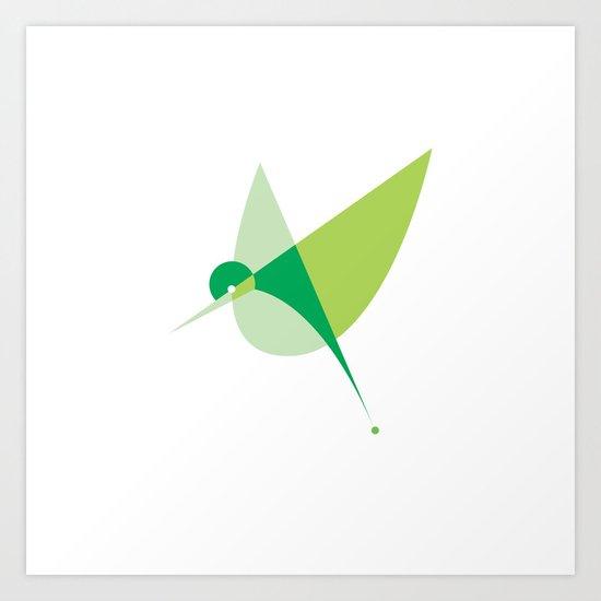 Contours: Hummingbird Art Print