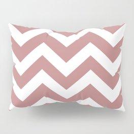 Old rose - violt color - Zigzag Chevron Pattern Pillow Sham