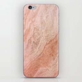 Polished Rose Gold Marble iPhone Skin