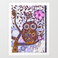 discount Art Prints featuring If Klimt Painted An Owl :) Owls are darling birds! by Love2Snap