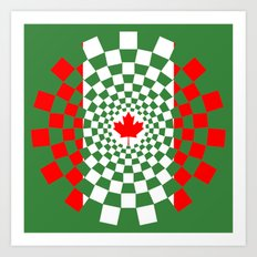 Canada cubic flag stylized - spiral time travel Canada Art Print