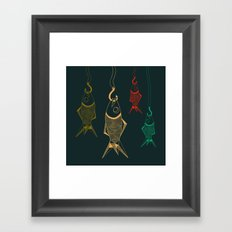 those are not fishes Framed Art Print