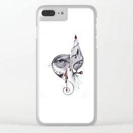 Ojo, ten cuidado (Pasado) Clear iPhone Case