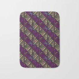 Gold and Purple Bath Mat