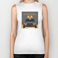 No183 My Back to the Future minimal movie poster Biker Tank