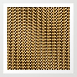 Gold Chines 2 Art Print