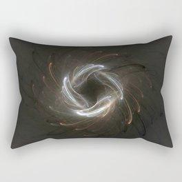Metallic Swirl Fractal Rectangular Pillow