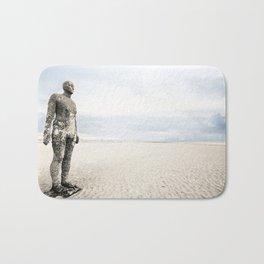 Crosby Beach Man  Bath Mat