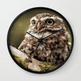 Nature woodland birds Owl bekon light Wall Clock