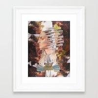 iron maiden Framed Art Prints featuring Laura The Iron Maiden by MELANCHOLIE (mit MONSTERN)