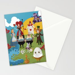 alice in wonderland collection Stationery Cards