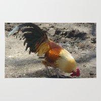 chicken Area & Throw Rugs featuring Chicken by Mylittleradical