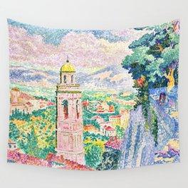 "Henri-Edmond Cross ""Pérouse, le Campanile de Santa Maria Nuova"" Wall Tapestry"