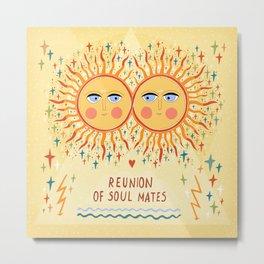 Reunion of soulmates Metal Print