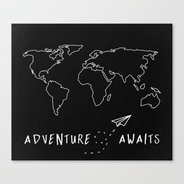 Adventure Map Canvas Print