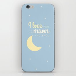 Moon and back iPhone Skin