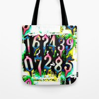 numbers Tote Bags featuring Numbers! by gasponce