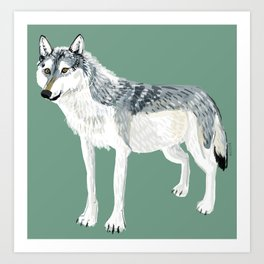 Totem Alberta Wolf Art Print