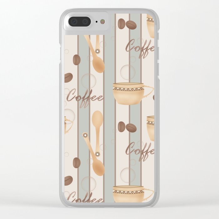 Retro . Coffee. Clear iPhone Case