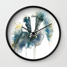 Badger in Blue and Brown Wall Clock
