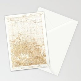Manzana, CA from 1933 Vintage Map - High Quality Stationery Cards