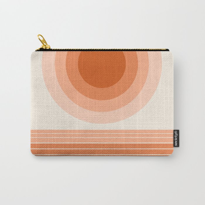 Cool Beans - minimal retro vibes sunset socal ocean desert 70s style 1970's art Carry-All Pouch