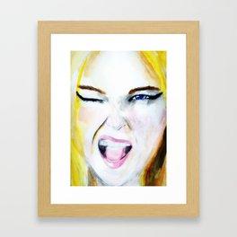 Wink! Framed Art Print