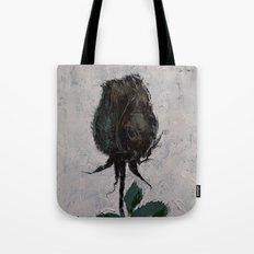 Black Rosebud Tote Bag