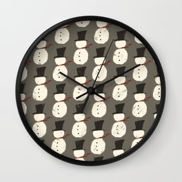 Snowguys Wall Clock