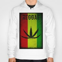 reggae Hoodies featuring REGGAE by shannon's art space