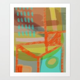 Shapes and Layer no.8 - Abstract painting Art Print