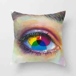 Eye of an artist Throw Pillow