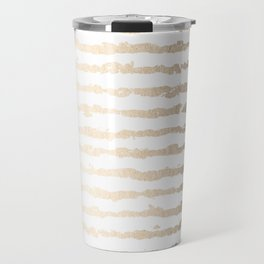 White Gold Sands Ink Stripes Travel Mug