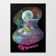 Space Girl 01 Canvas Print