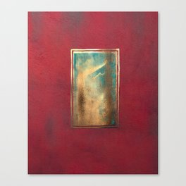 Deep Red, Gold, Turquoise Blue Canvas Print