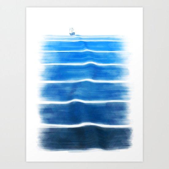 sea trip Art Print