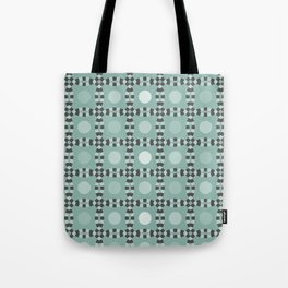 Linked - antique green and gray Tote Bag