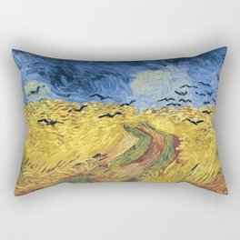 Wheatfield with Crows by Vincent van Gogh Rectangular Pillow