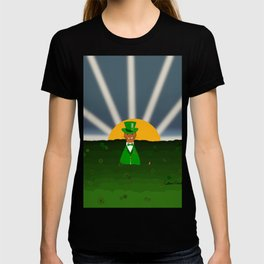 Oliver The Otter and Field of Shamrocks T-shirt