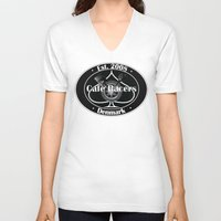 cafe racer V-neck T-shirts featuring Cafe Racer  by Peter G. Brandt