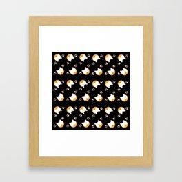 Corgi Butt Pattern Framed Art Print
