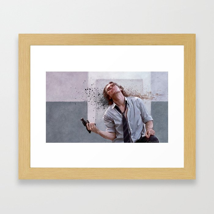 Detective Smecker From The Boondock Saints - There Was a Fire Fight Framed Art Print