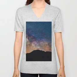 Mountain Galaxy (Color) Unisex V-Neck