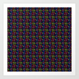 Kente Cloth Ankara Stained Glass Pattern II Art Print
