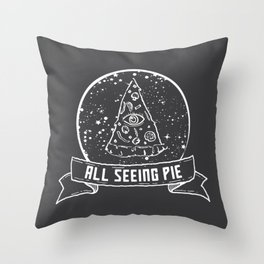 All Seeing Pie Throw Pillow