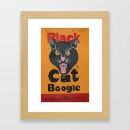 Black Cat Boogie Framed Art Print