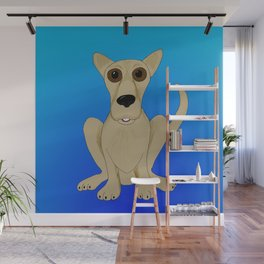 Basic Brown Dog Wall Mural